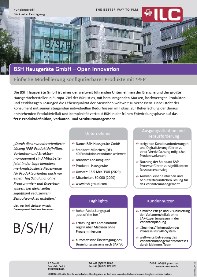 Success Story BSH GmbH – ILC GmbH