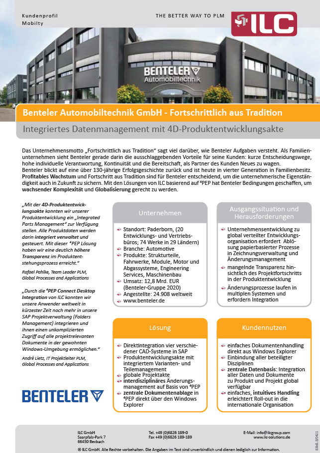 Success Story Benteler AG – ILC GmbH