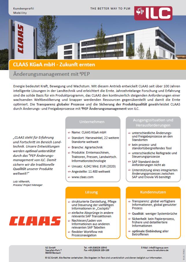 Success Story CLAAS KGaA mbH – ILC GmbH