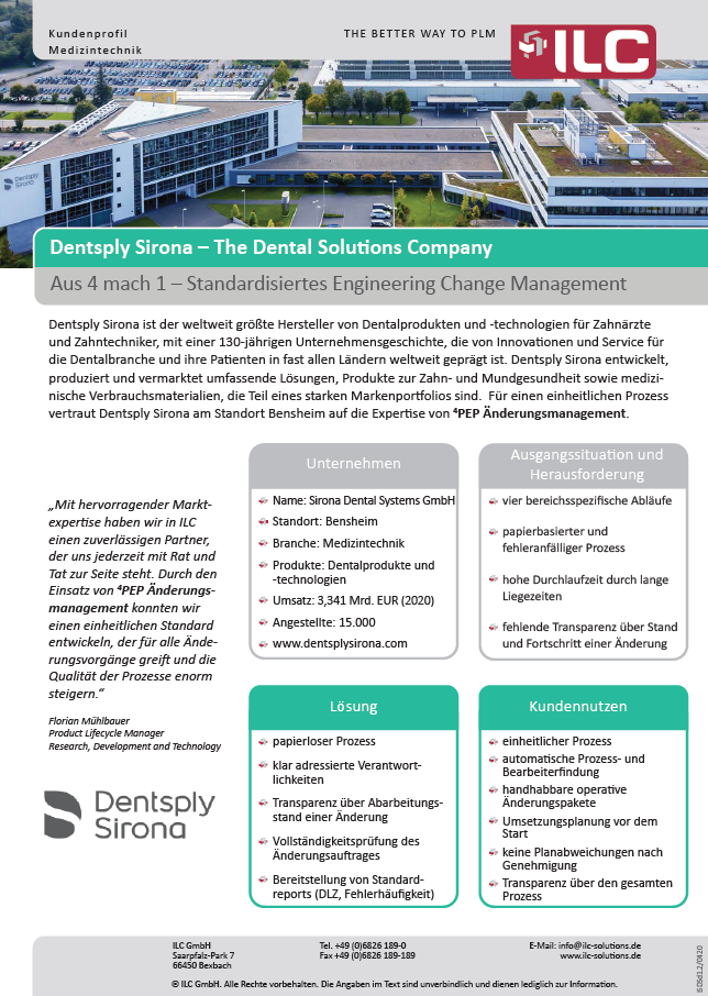Success Story Dentsply Sirona – ILC GmbH