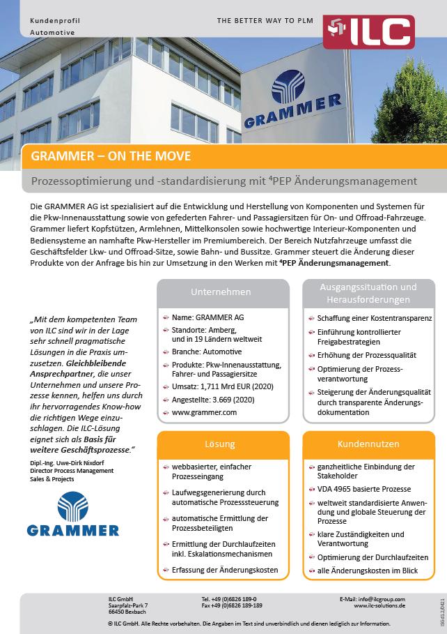 Success Story Grammer AG – ILC GmbH