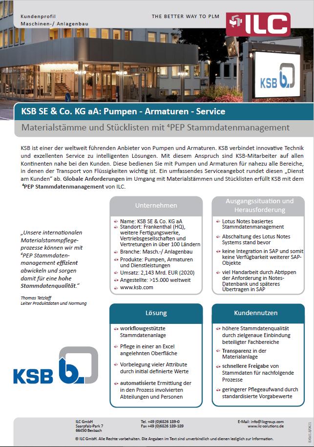 Success Story KSB – ILC GmbH