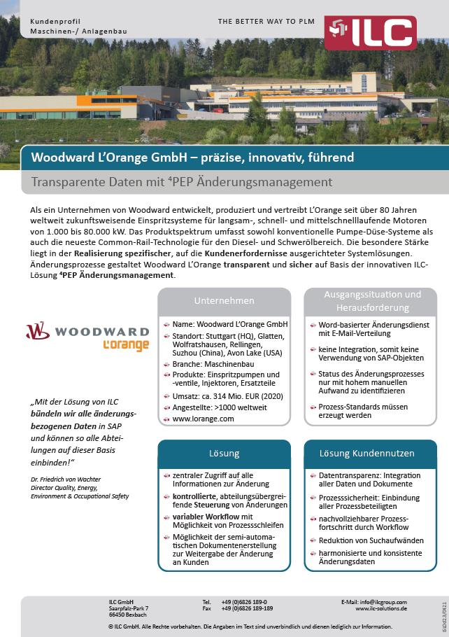 Success Story Woodward L'Orange GmbH – ILC GmbH