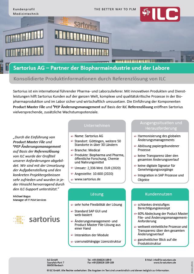 Success Story Sartorius – ILC GmbH