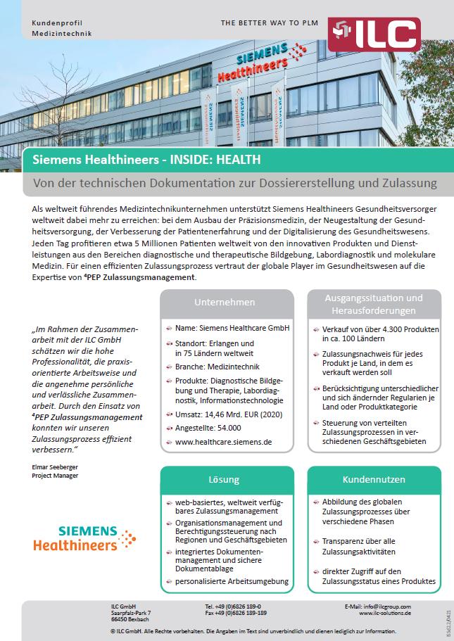 Success Story Siemens Heathineers – ILC GmbH