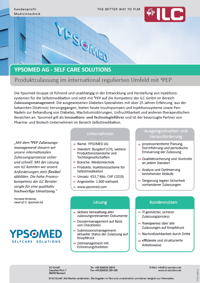 Success Story Ypsomed group – ILC GmbH