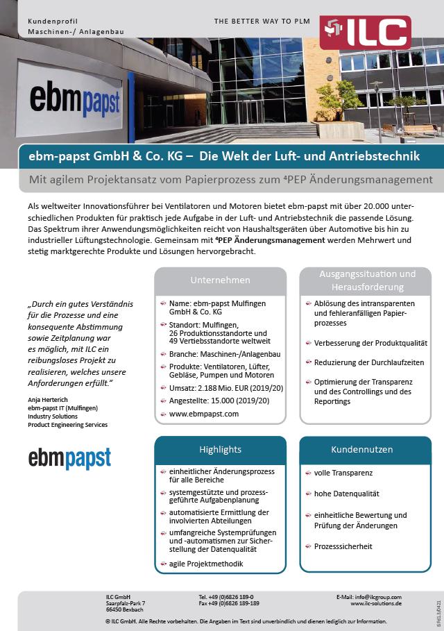 Success Story EBM-Papst – ILC GmbH