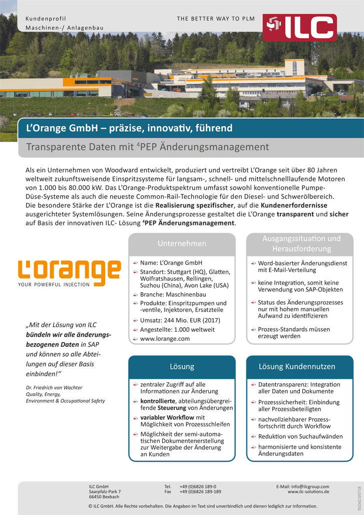 Success Story L'Orange – ILC GmbH
